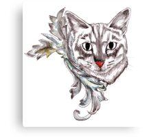 Posh Cat Canvas Print