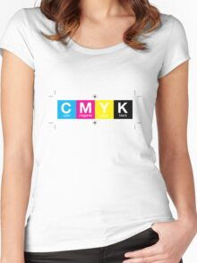 CMYK 10 Women's Fitted Scoop T-Shirt
