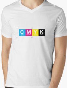 CMYK 10 Mens V-Neck T-Shirt