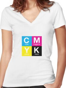 CMYK 11 Women's Fitted V-Neck T-Shirt