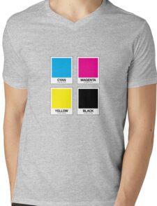 CMYK 12 Mens V-Neck T-Shirt