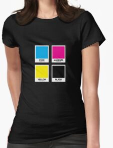 CMYK 12 Womens Fitted T-Shirt