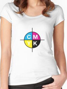 CMYK 14 Women's Fitted Scoop T-Shirt