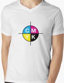CMYK 14 Mens V-Neck T-Shirt
