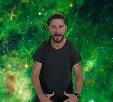 Shia Labeouf Green Galaxy by azariath