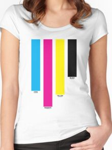 CMYK 16 Women's Fitted Scoop T-Shirt