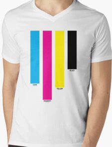 CMYK 16 Mens V-Neck T-Shirt
