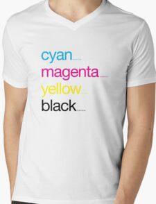 CMYK 17 Mens V-Neck T-Shirt