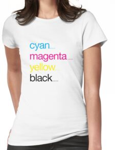 CMYK 17 Womens Fitted T-Shirt