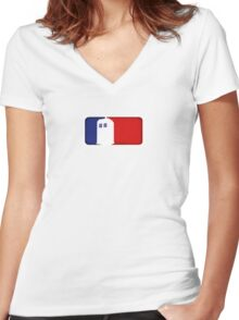Major League Phone Box Women's Fitted V-Neck T-Shirt