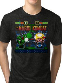 Mario Kombat II Tri-blend T-Shirt