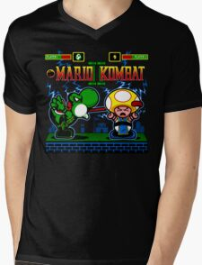 Mario Kombat II Mens V-Neck T-Shirt