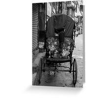 Rickshaw boy at rest Greeting Card