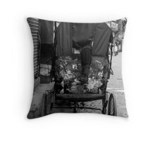 Rickshaw boy at rest Throw Pillow