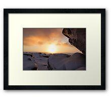 Winter Sunrise on Higger Tor Framed Print