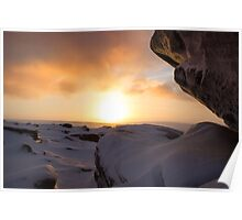 Winter Sunrise on Higger Tor Poster
