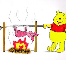 Winnie the Pooh's Spitroast Supper by TDCartoonArt