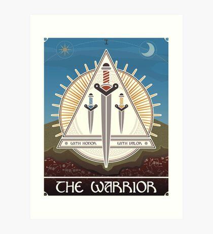 The Warrior Tarot Card Art Print