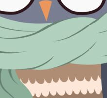 Hipster Owl Transparent Background Sticker