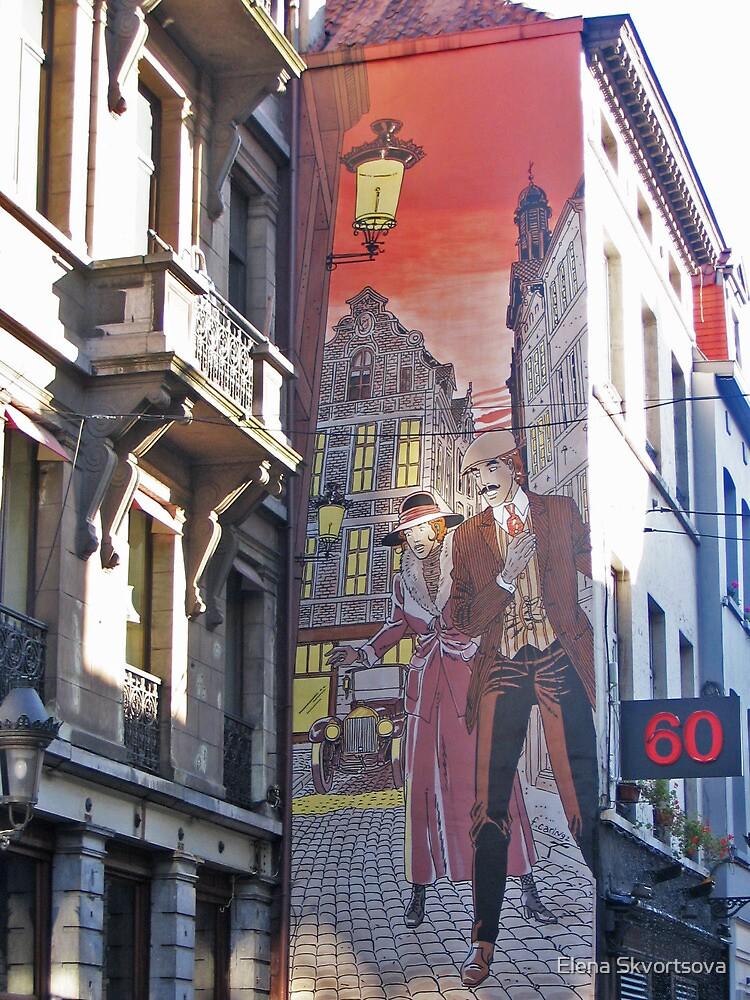 Street art in Brussels by Elena Skvortsova