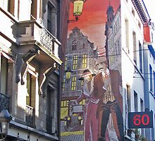 Street art in Brussels by Elena Skvortsova