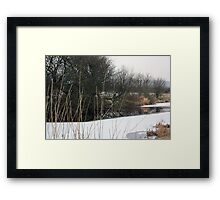 Frozen Canal near Lancaster Framed Print
