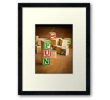 FUN - Alphabet Blocks Framed Print