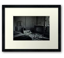 Too Much TV Will Kill You Framed Print