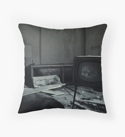 Too Much TV Will Kill You Throw Pillow