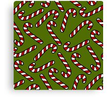 Candy Cane Pattern Canvas Print
