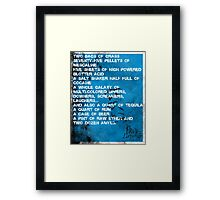 Fear and Loathing Minima Framed Print