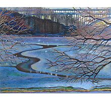 Water Reflections by Henry Hudson Bridge Photographic Print