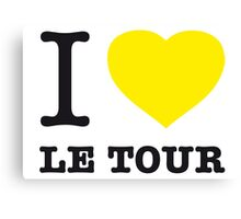 I ♥ LE TOUR Canvas Print