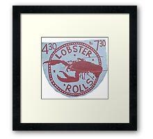 Lobster Rolls - Martha's Vineyard Framed Print