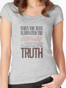 What remains is the truth Women's Fitted Scoop T-Shirt