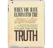 What remains is the truth iPad Case/Skin
