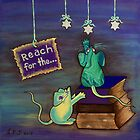 Reach for the STARS by Lisa Frances Judd ~ QuirkyHappyArt
