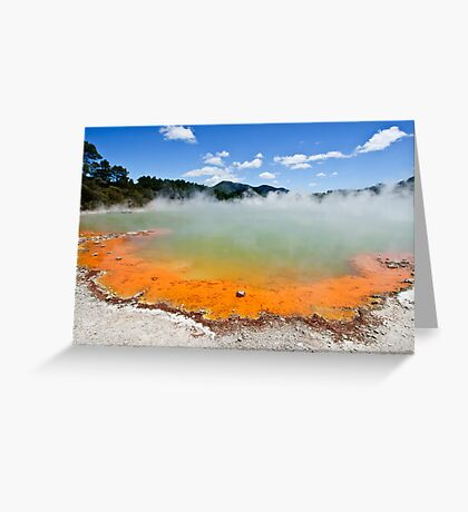 The Champagne Pool, Wai-O-Tapu Greeting Card
