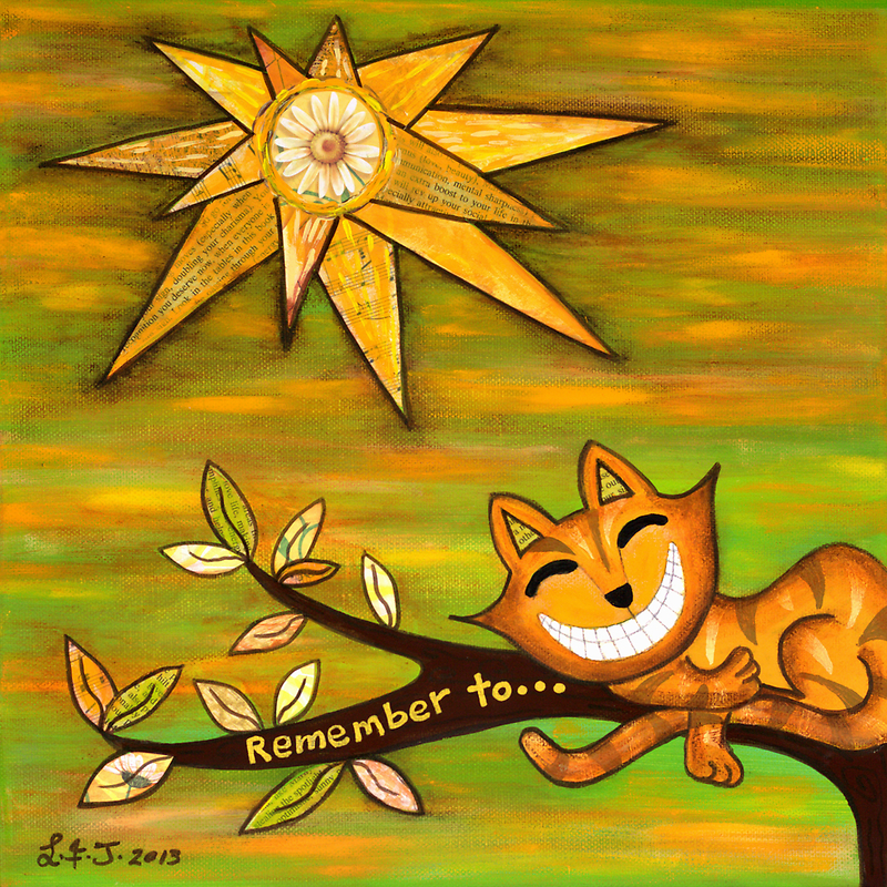 Remember to SMILE by Lisa Frances Judd~QuirkyHappyArt