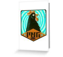 Psycho Chicken Negro GBRC Greeting Card