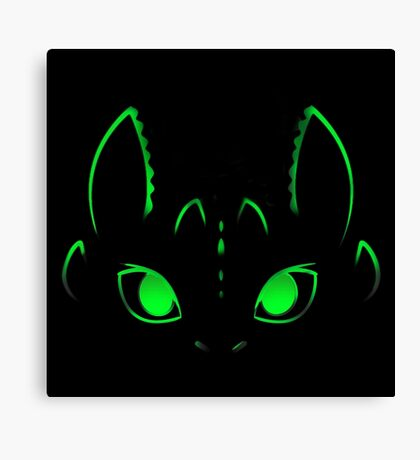 Neon Toothless  Canvas Print