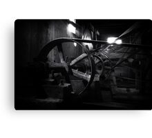 Old factory machine Canvas Print