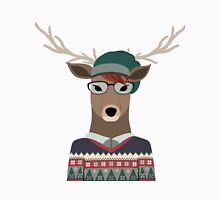 Hipster Deer Transparent Background Unisex T-Shirt