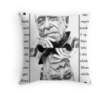 Charles Bukowski. Throw Pillow