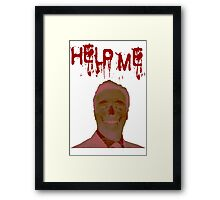 Help Me Horror Face Framed Print