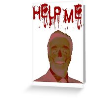 Help Me Horror Face Greeting Card