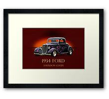 1934 Ford Coupe w/ID Framed Print