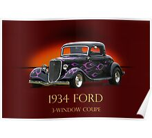1934 Ford Coupe w/ID Poster