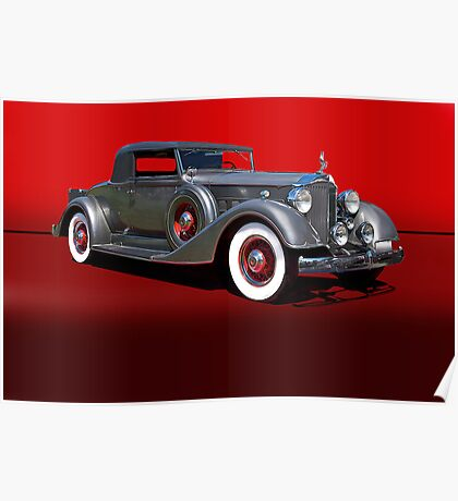 1934 Packard 1101 Eight Coupe w/o ID Poster