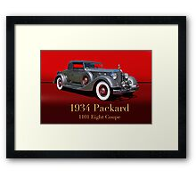 1934 Packard 1101 Eight Coupe w/ID Framed Print
